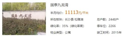 """国泰九龙湾:松雅湖边+地铁附近,星沙""""捂盘王""""仅认筹三天"""
