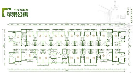 公寓的户型平面图